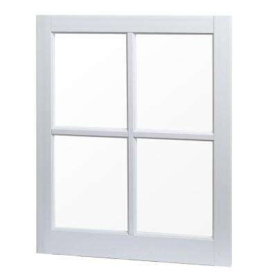 24 in. x 29 in. Utility Fixed Picture Vinyl Window with Grid - White