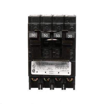 Quadplex One Outer 30 Amp Double-Pole and One Inner 50 Amp Double-Pole-Circuit Breaker