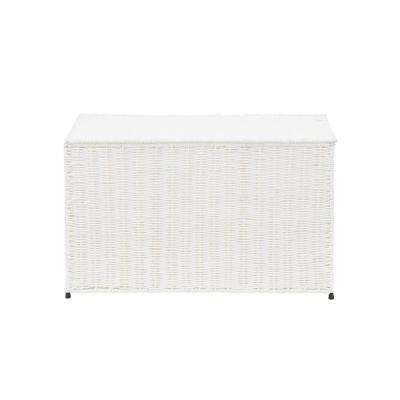 Arctic White Large Wicker Storage Chest