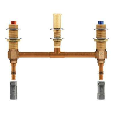 2-Handle 3-Hole Roman Tub 10 in. Center Rough-In Valve - 1/2 in. CPVC PEX Connection