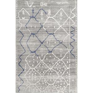 Cleon Modern Moroccan Gray 5 ft. x 8 ft.  Area Rug