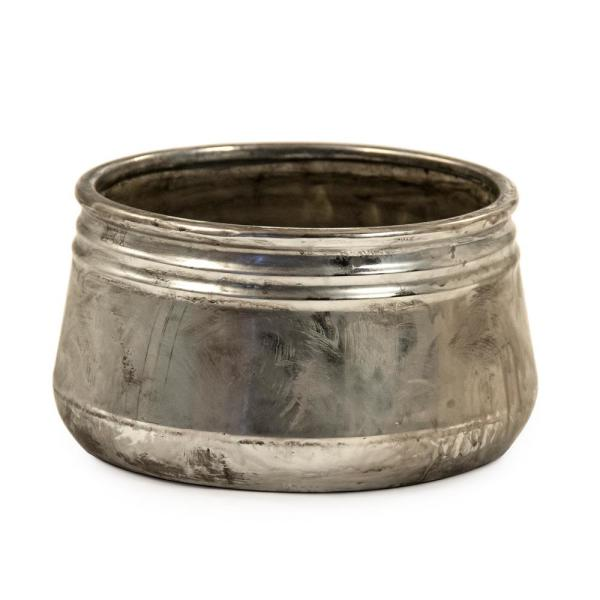 Zentique - Small Distressed Metallic Can-shaped Bowl