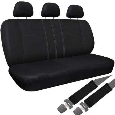 26 in. L x 23 in. W x 48 in. H Bench Seat Cover in Solid Black