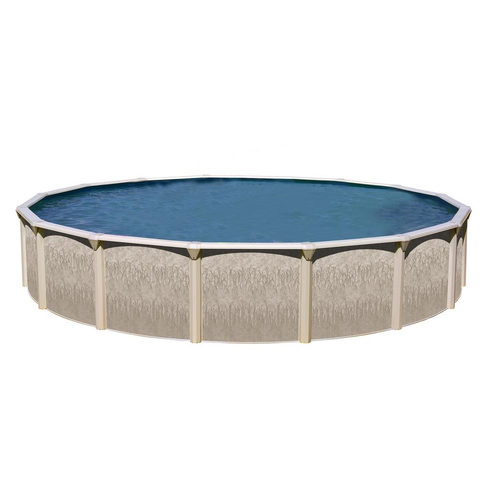 Round Above Ground Swimming Pool In Round Above Ground Pool Kit Galveston 15 Ft 52 In Kitga1552 The