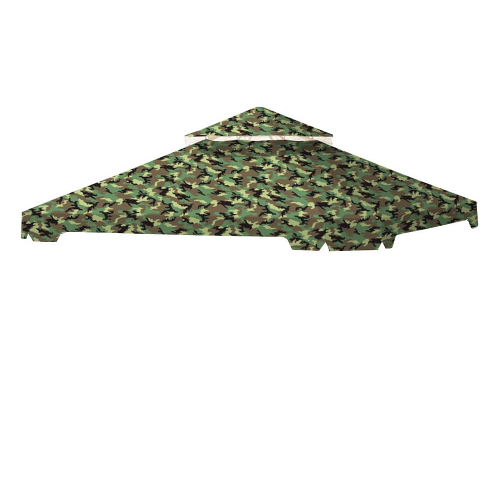 Standard 350 Camo Green Replacement Canopy Top Cover Set for 10 ft. x 10 ft. Cottleville Gazebo
