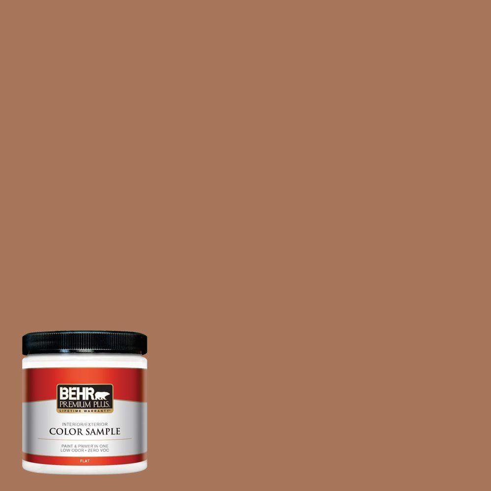 8 oz. #240F-5 Toasted Chestnut Flat Zero VOC Interior/Exterior Paint and