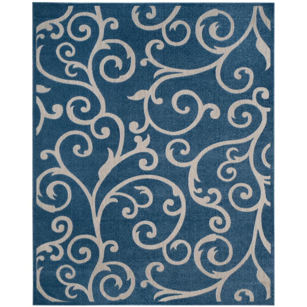 Safavieh Cottage Blue Cream 9 Ft X 12 Ft Indoor Outdoor Area Rug