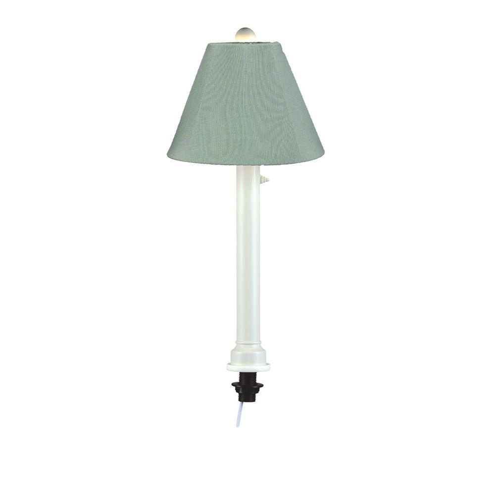 Patio Living Concepts Catalina 28 in. White Umbrella Outdoor Table Lamp with Spa Shade