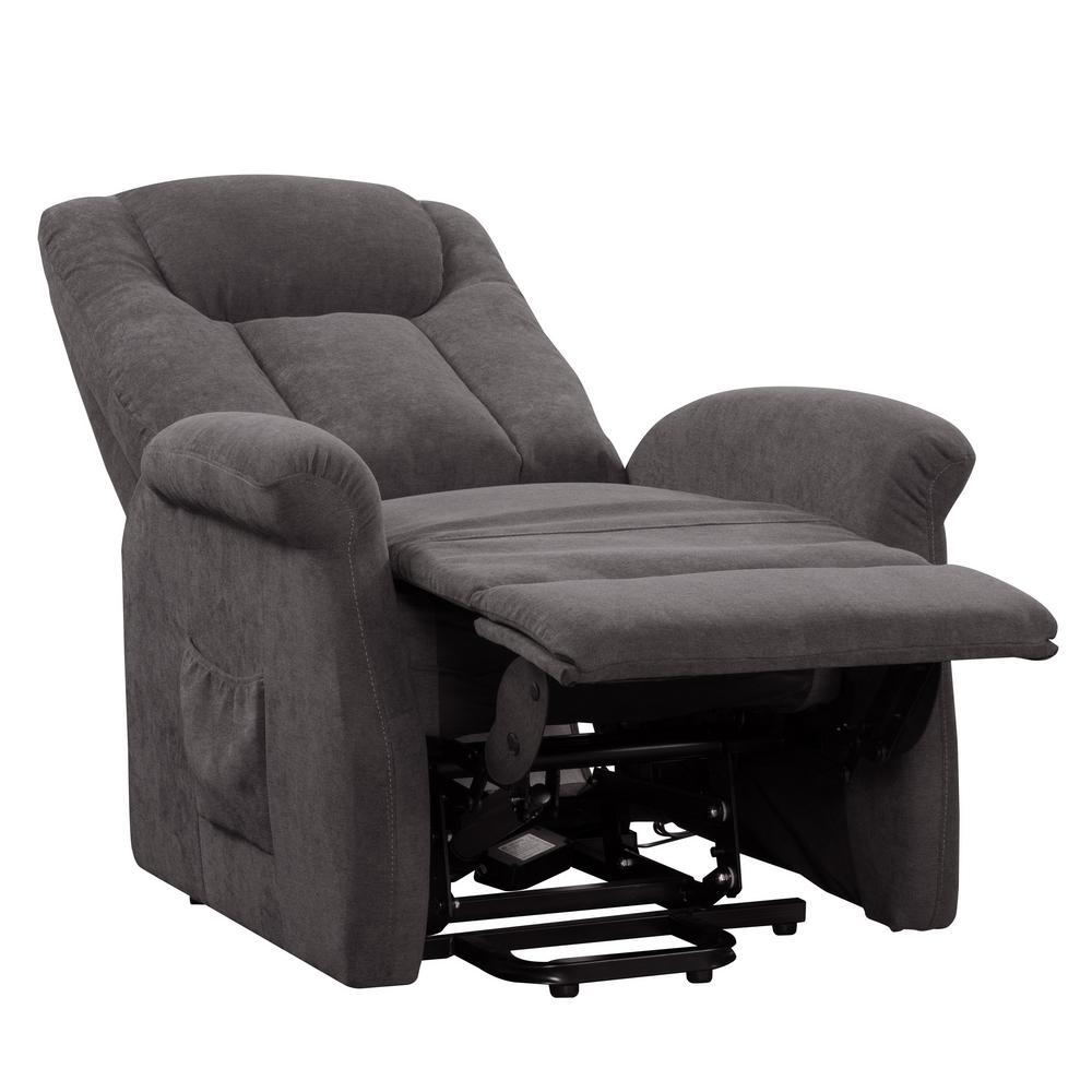 Excellent Arlington Grey Power Lift And Rise Recliner Short Links Chair Design For Home Short Linksinfo
