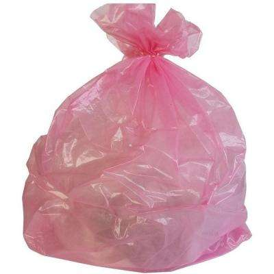 24 in. W x 31 in. H 12 Gal. to 16 Gal. 1 mil Pink Trash Bags (250-Case)