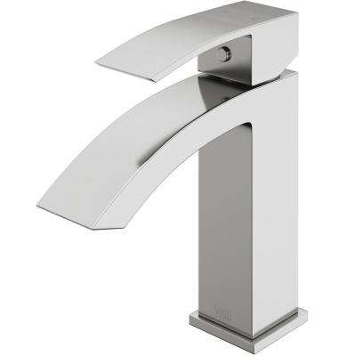 Single Hole 1-Handle Bathroom Faucet in Brushed Nickel