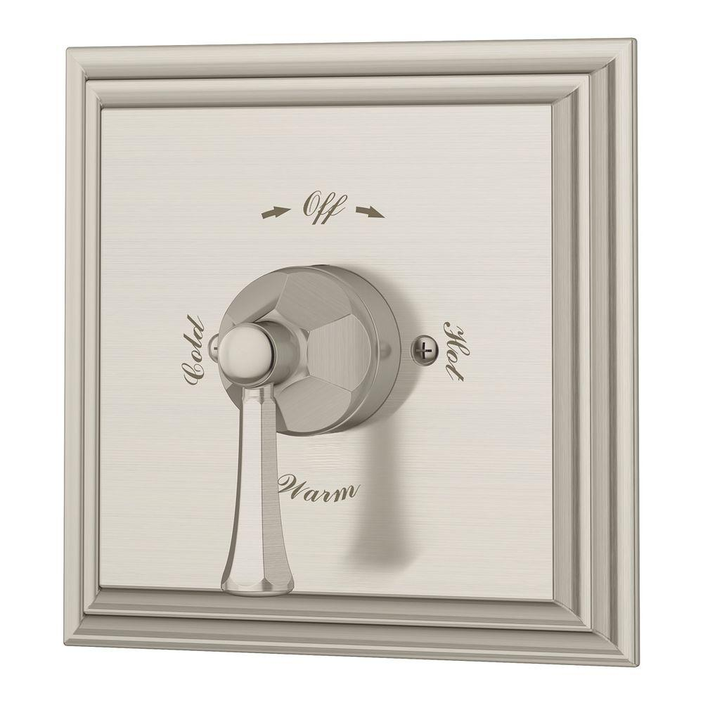 Canterbury 1-Handle Shower Trim Kit in Satin Nickel (Valve Included)