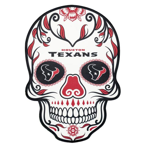 Applied Icon Nfl Houston Texans Outdoor Skull Graphic Large
