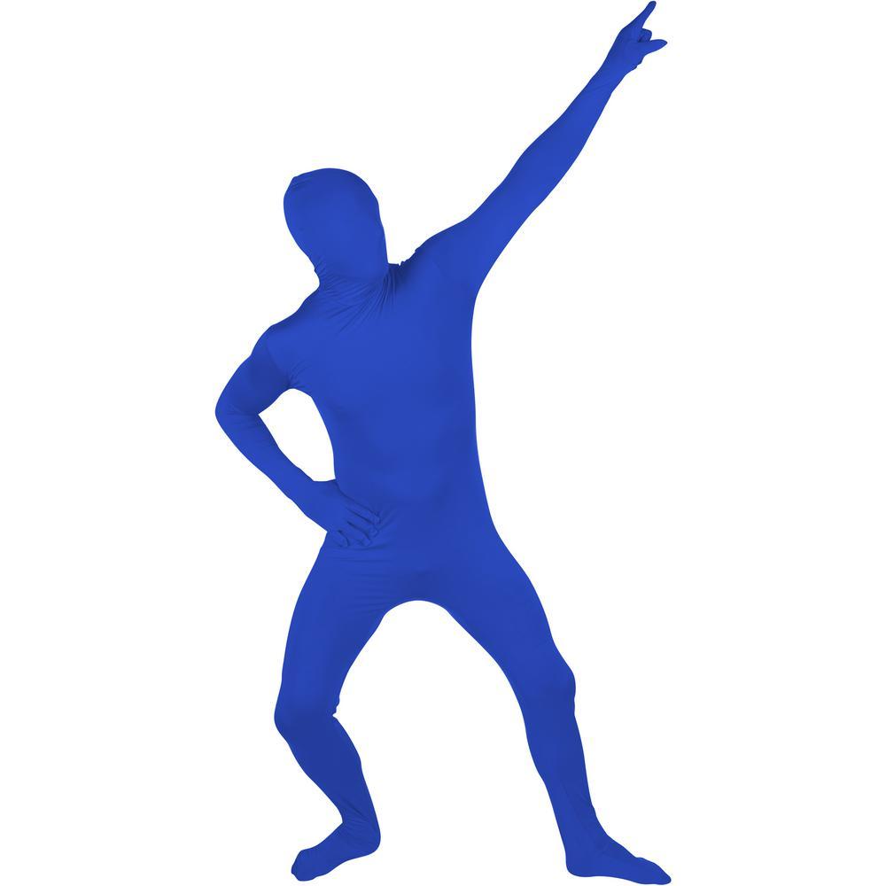 fa0cbd21fdb4ba Adult Spandex Second Skin Full Bodysuit Halloween Costume (Blue)-COS-MORPH-BU  - The Home Depot