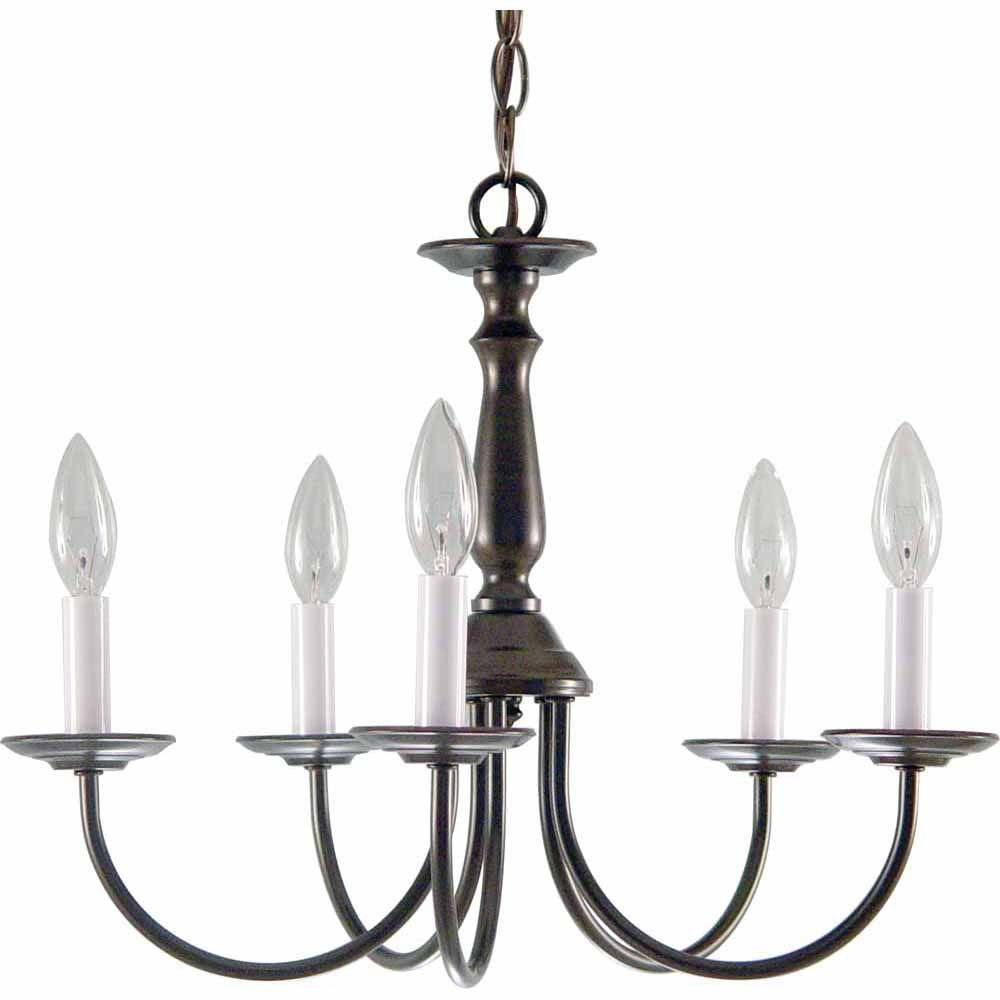 Filament Design Lenor 5-Light Antique Bronze Incandescent Ceiling Chandelier