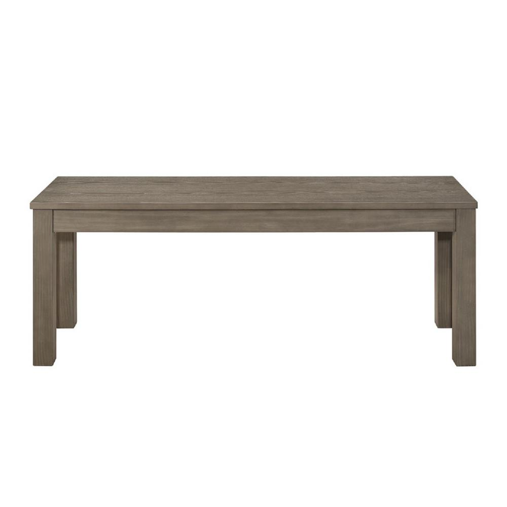 Walker Edison Furniture Company Homestead Aged Grey Solid Wood Bench Hd48hsagy The Home Depot