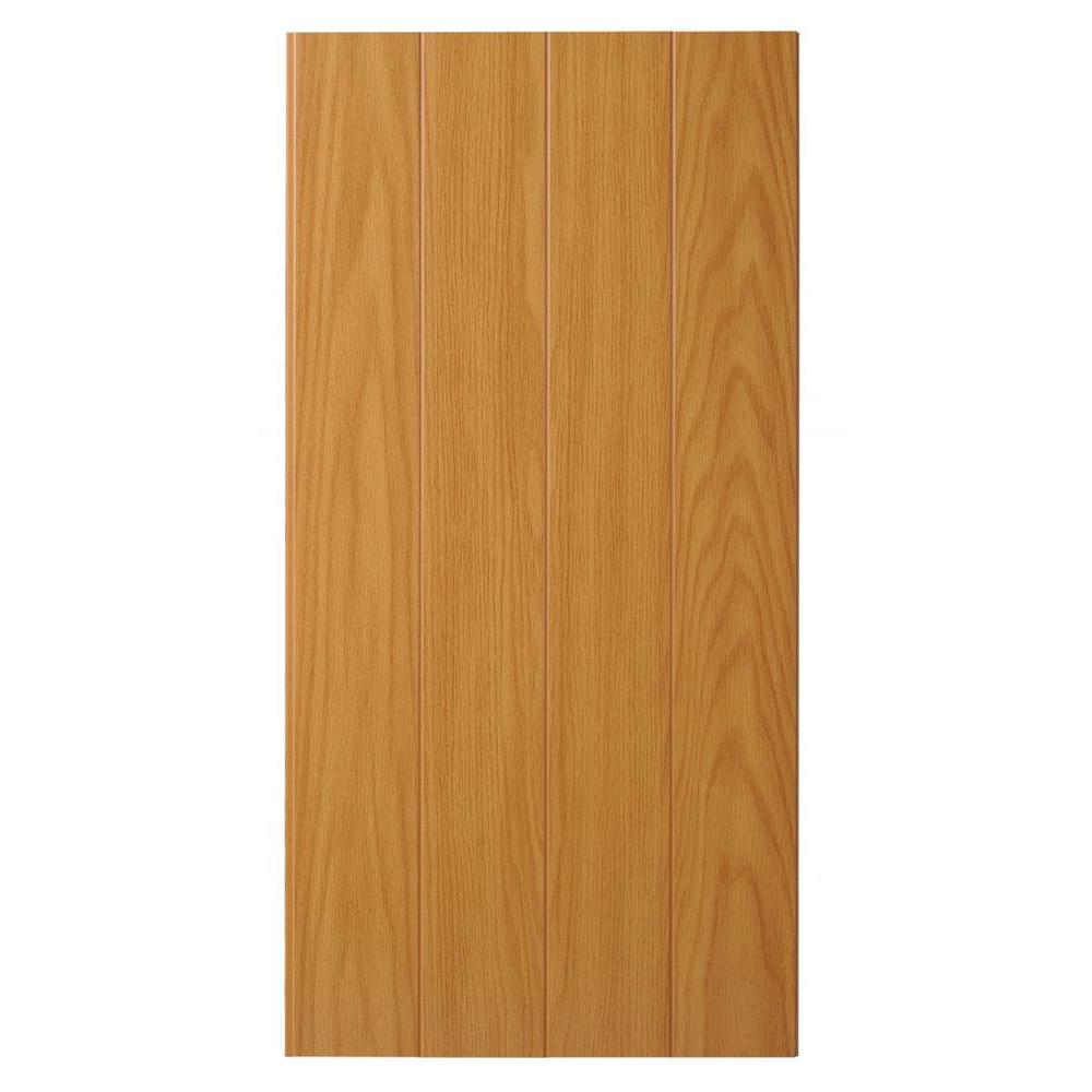 Marlite Supreme Wainscot 8 Linear ft. HDF Tongue and Groove Brunswick Oak Panel (6-Pack)