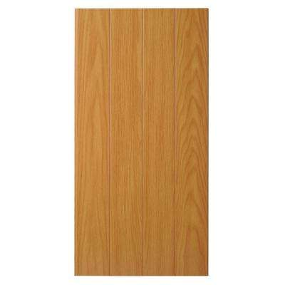 Supreme Wainscot 8 Linear ft. HDF Tongue and Groove Brunswick Oak Panel (6-Pack)