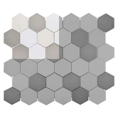 Honeycomb 3 in. x 6 in. x 6 mm Porcelain Mosaic Tile Sample
