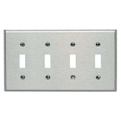 4 Switch Plate Endearing Rectangle  Stainless Steel  Switch Plates  Wall Plates  The Design Decoration
