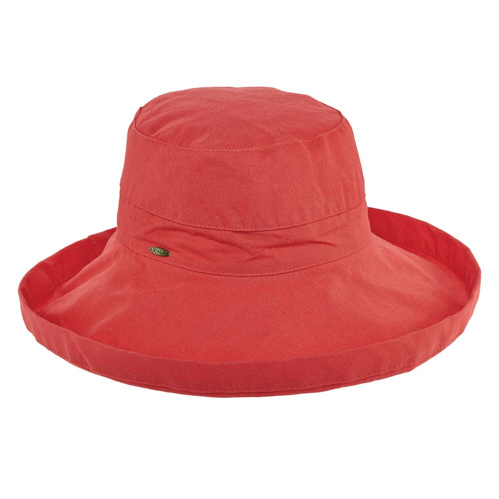 Scala Cotton Big Brim with Inner Drawstring-LC399-CORAL - The Home Depot 1b821e7945a