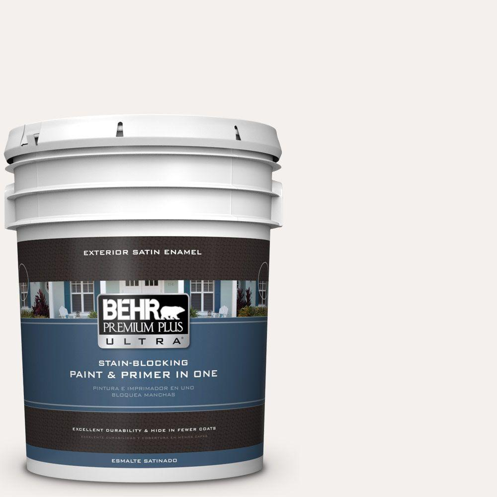 BEHR Premium Plus Ultra 5-gal. #W-B-600 Luster White Sati...