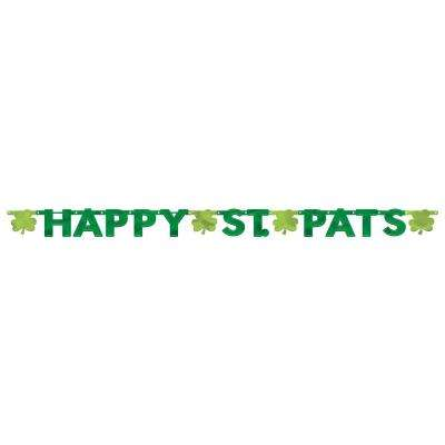 6.5 in. x 8 ft. St. Patrick's Day Foil Paper Letter Banner (3-Pack)