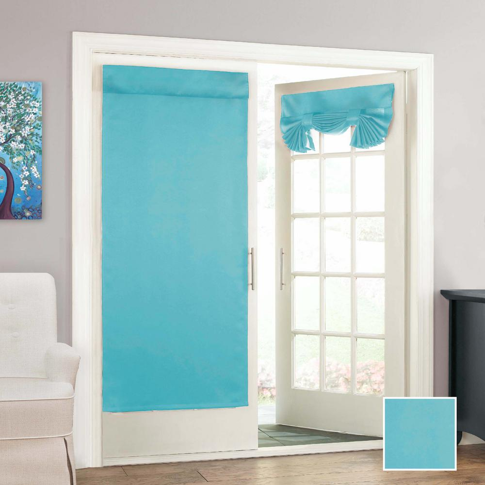 Eclipse Tricia French Door Window Panel In Turquoise 26 In W X 68 In L 14898026068tuq The Home Depot
