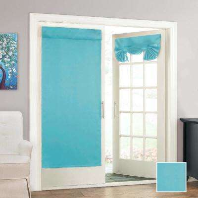Tricia 68 in. L Polyester Rod Pocket Panel in Turquoise (1-Pack)