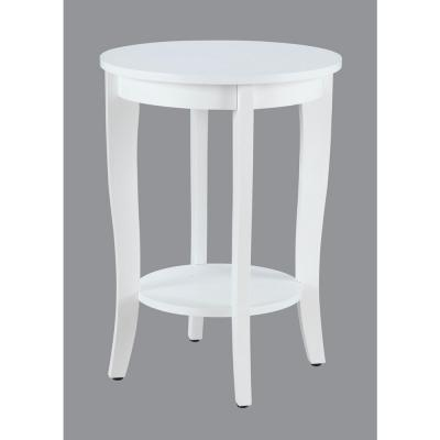American Heritage Round White End Table