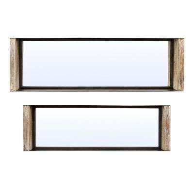 39.5 in. x 4 in. x 12 in. Metal/Wood Shadow Boxes (Set of 2)