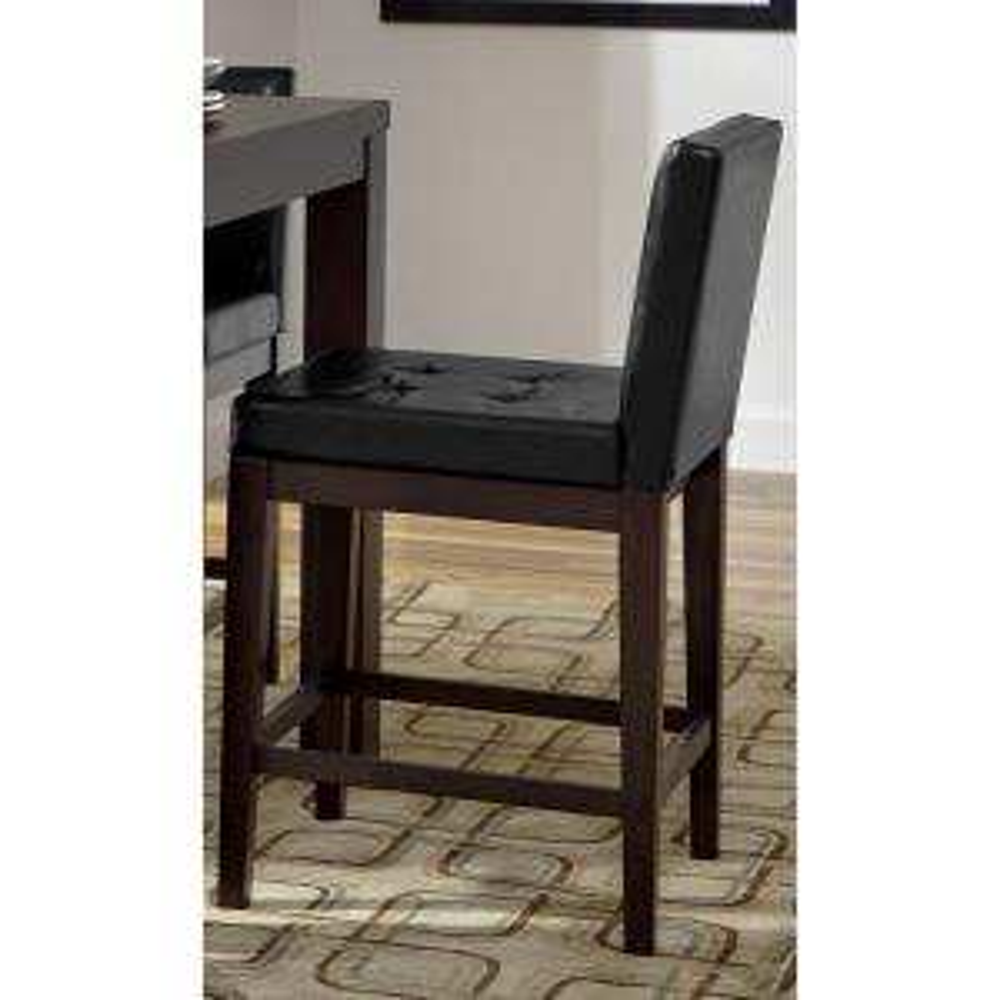 Athena Dark Chocolate Upholstered Counter Chairs (2/ctn)