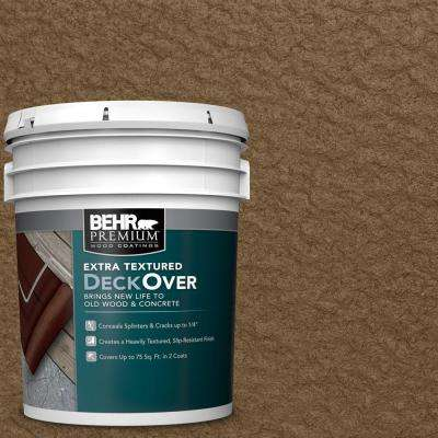 5 gal. #SC-109 Wrangler Brown Extra Textured Solid Color Exterior Wood and Concrete Coating
