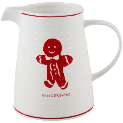 7 in. H Gingerbread Pitcher