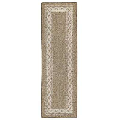 Sparrow Hazel Nut Bone White 2 Ft X 7 Runner Rug
