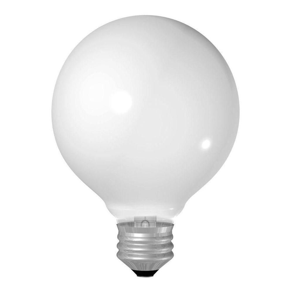 GE 60-Watt Incandescent G25 Globe Soft White Light Bulb (4-Pack)