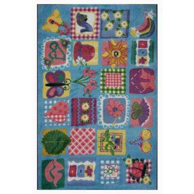 Supreme Funky Girls Quilt Multi Colored 39 in. x 58 in. Area Rug