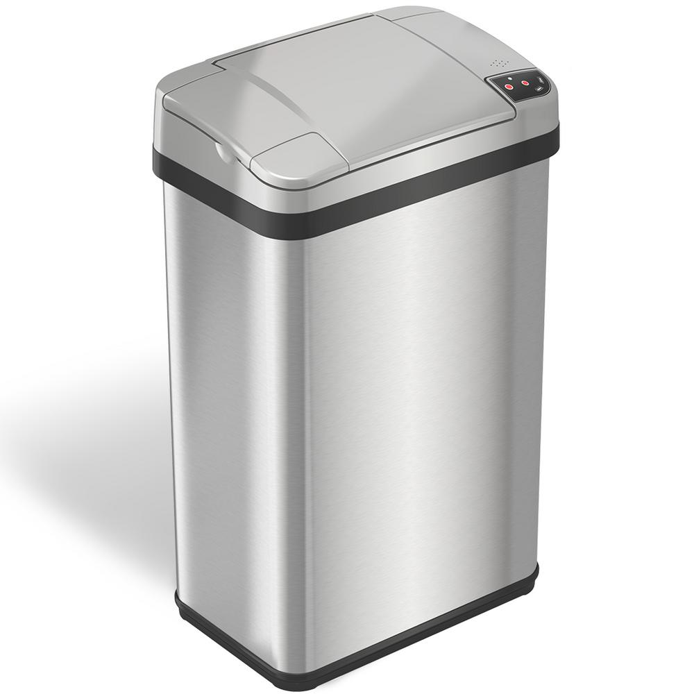 iTouchless 4 Gal. Stainless Steel Touchless Automatic Sensor Trash Can with  Odor Filter and Fragrance