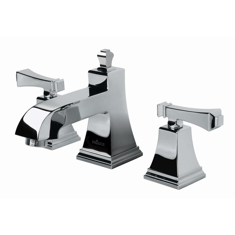 Widespread 2 Handle High Arc Bathroom Faucet In Chrome