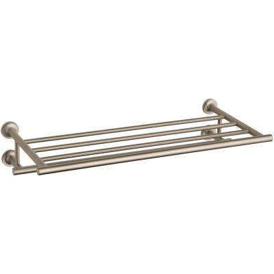 Purist 24 in. Towel Hotelier Towel Rack in Vibrant Brushed Bronze
