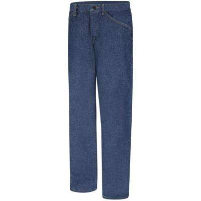 EXCEL FR Women's 10 in. x 28 in. Blue Denim Pre-Washed Denim Jean