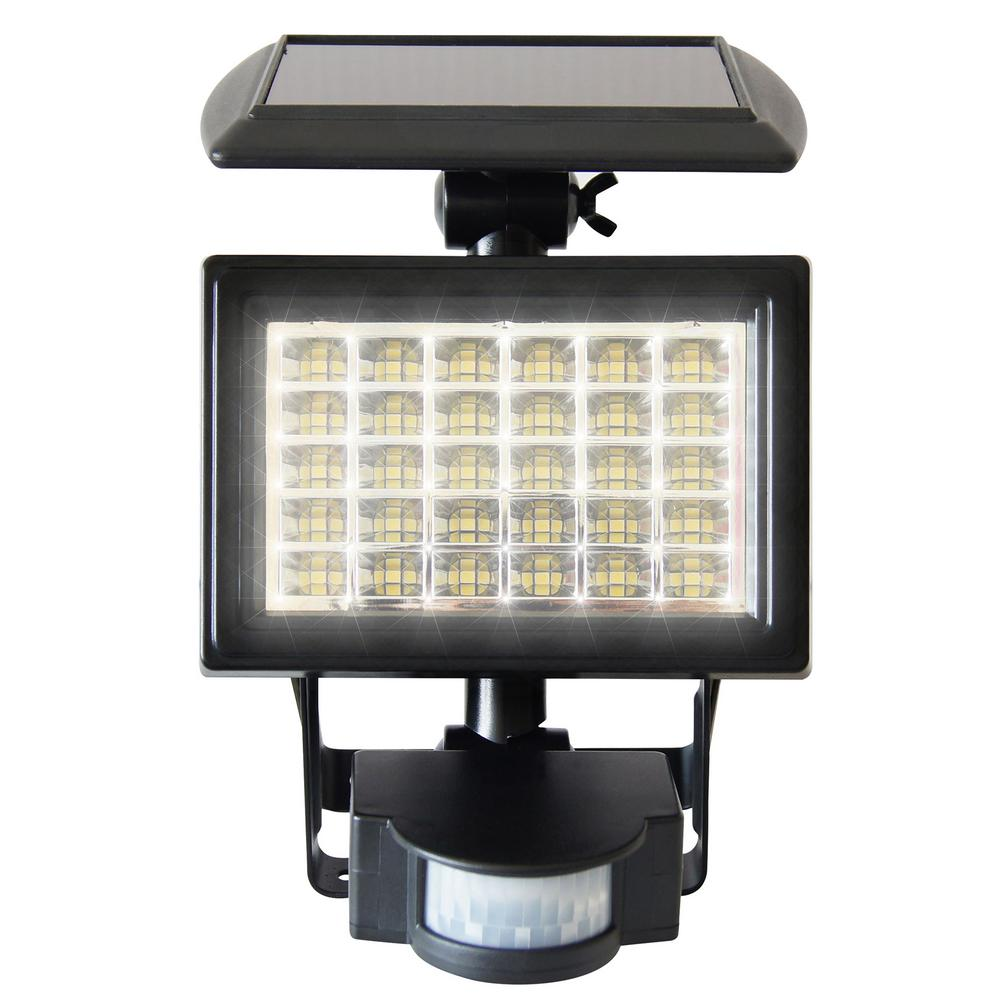 Ecothink Solar Series 10 176 Black Motion Activated Outdoor