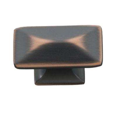 Bungalow 1-1/4 in. Oil Rubbed Bronze Highlighted Cabinet Knob