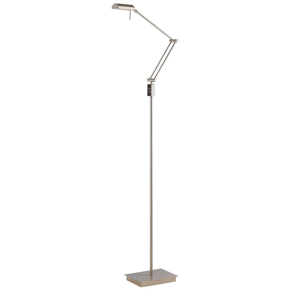 Filament Design Cooper 69 in. Brushed Steel Incandescent Floor Lamp