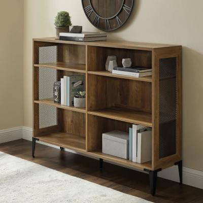 40.25 in. Reclaimed Barn Wood 6-shelf Standard Bookcase with Adjustable Shelves