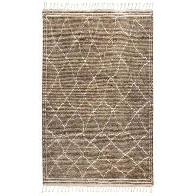 Berkley Brown/Ivory 5 ft. 6 in. x 8 ft. 6 in. Rectangle Area Rug