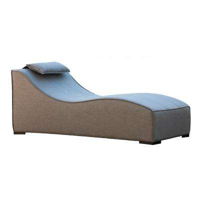 South Beach Aluminum Outdoor Patio Chaise Lounge with Grey Cushions