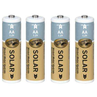 Nickel Metal Hydride 1200 mAh Solar Rechargeable Batteries (4-Pack)