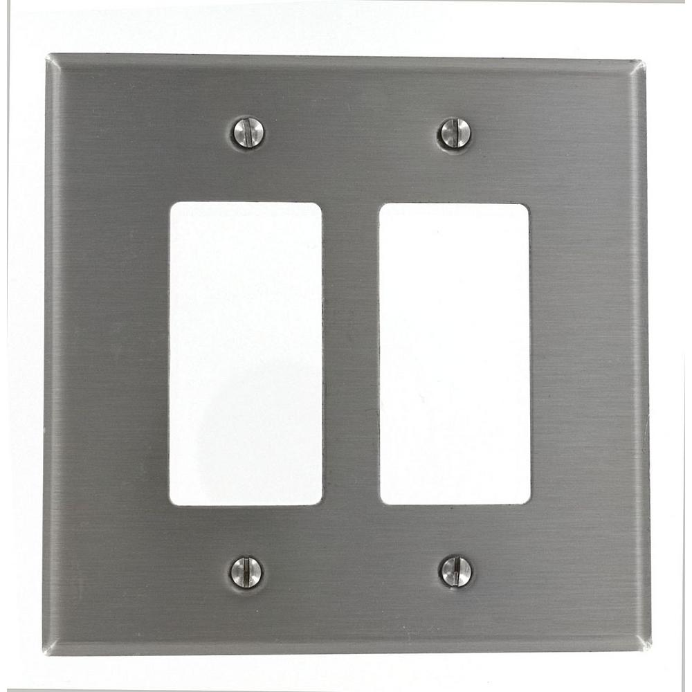 2 Gang Decora Oversized Wall Plate Stainless Steel