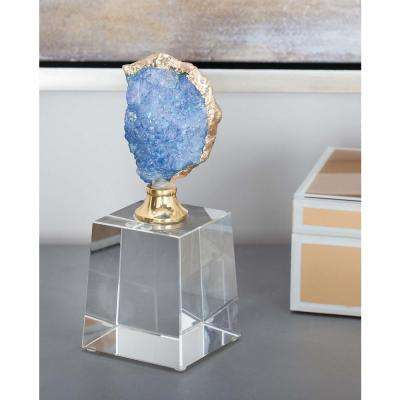 Natural Geode Decor with Glass Base